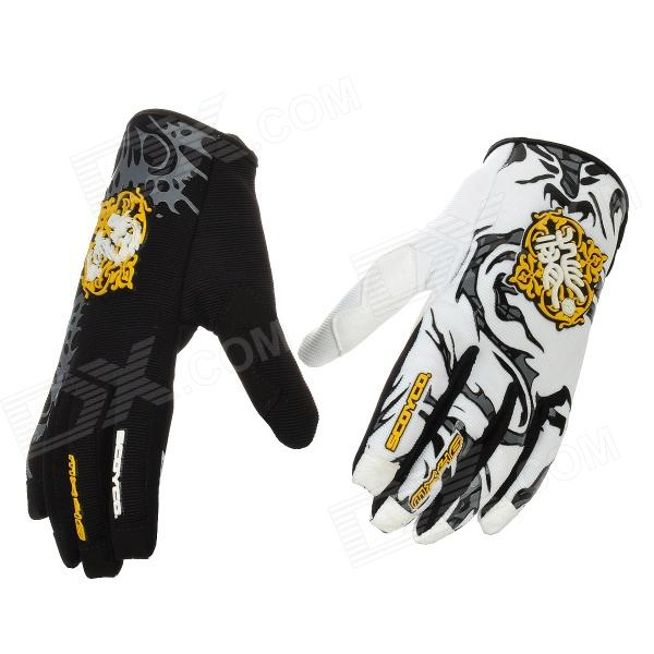Scoyco MX46-L Full-Fingers Motorcycle Racing Gloves - White + Yellow + Black (Pair / Size L)