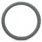 Genuine Leather Car Steering Wheel Cover for GM Vehicle - Grey (Size M)