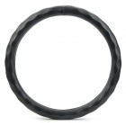 Genuine Leather Car Steering Wheel Cover for GM Vehicle - Black (Size M)