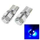 T10 0.9W 75lm 5-SMD 5050 LED Blue Light Car Clearance / Decoration Lamp (2 PCS / 12V)
