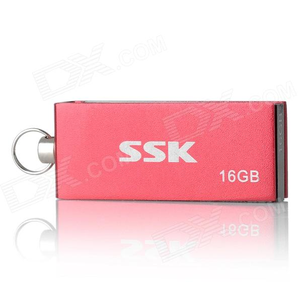 SSK SFD042 Rotation USB 2.0 Flash Drive - Red + Black (16GB) usb flash drive 16gb smartbuy x cut sky sb16gbxc sb