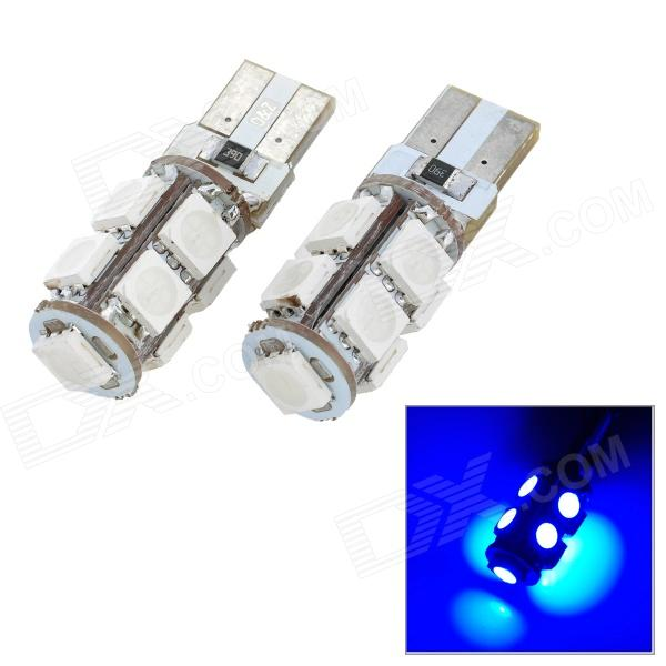 T10 1.62W 135lm 9-SMD 5050 LED Blue Light Car Clearance / Decoration Lamp (2 PCS / 12V) canbus t10 1 8w 135lm 9 smd 5050 led white light car clearance door lamp 2 pcs 12v