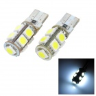 T10 1.62W 207lm 9-SMD 5050 LED White Light Car Abstand Lampe (2 PCS / 12V)