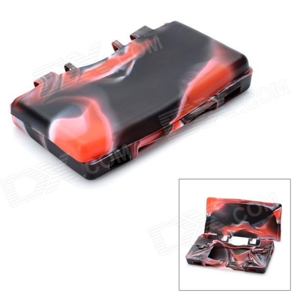 Camouflage Style Protective Silicone Case for Nintendo NDSL - Red + Black