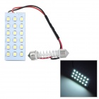 T10 / BA9S / Festoon 24mm~34mm 1.8W 126lm 18-SMD 1210 LED White Light Car Reading / Roof Lamp (12V)