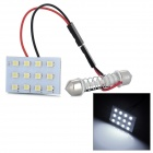T10 / BA9S / Festoon 23mm ~ 33mm 1.5W 84lm 12-SMD 1210 LED White Light Car Reading / Roof Lamp (12V)