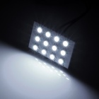 T10 / BA9S / Festoon 23mm~33mm 1.5W 84lm 12-SMD 1210 LED White Light Car Reading / Roof Lamp (12V)