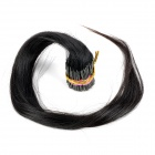 Real Human Straight Fusion Hair Extensions - Black (65cm / 200 Bundles)