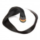 Real Human Straight Fusion Hair Extensions - Black (75cm / 200 Bundles)