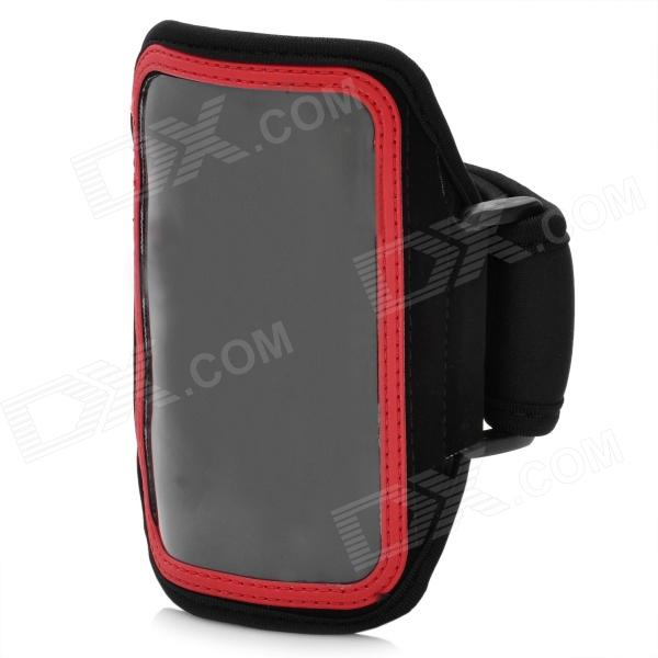 Trendy Sports Armband for Iphone 5 - Black + Red