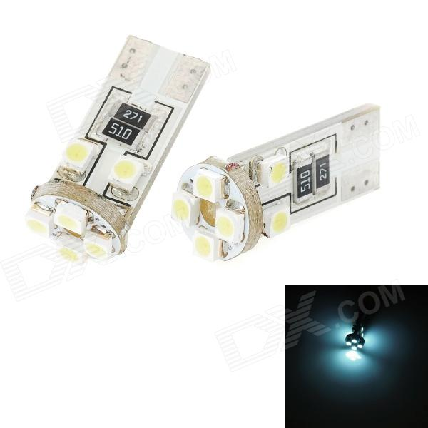T10 1W 240lm 8-SMD 1210 LED White Light Decoded Car Steering Lamp / Clearance Lamp (2 PCS / 12V) cawanerl 2 x car led fog light drl daytime running lamp 12v white for toyota prius hatchback zvw3 1 8 hybrid 2009 onwards