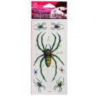 Fashion Spider Pattern Tattoo Paper Stickers - Black + Green (10 PCS)
