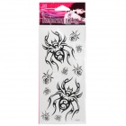 Fashion Spider Pattern Tattoo Paper Stickers - Black (10 PCS)
