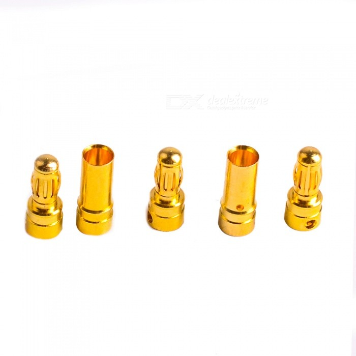 Gold Plated Banana Plug Jack Connector Set - Golden (3.5mm / 10 Pairs)DIY Parts &amp; Components<br>Form  ColorGoldenMaterial:Packing List<br>