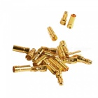Gold Plated Banana Plug Jack Connector Set - Golden (3.5mm / 10 Pairs)