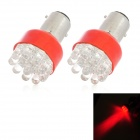 S25 1.5W 73lm 635~700nm 12-LED Red Light Motorcycle Brake Lamp (12V / 2 PCS)