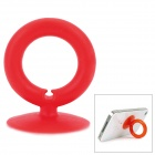 O-Ring Style Suction Cup Stand Holder for Cell Phone - Red