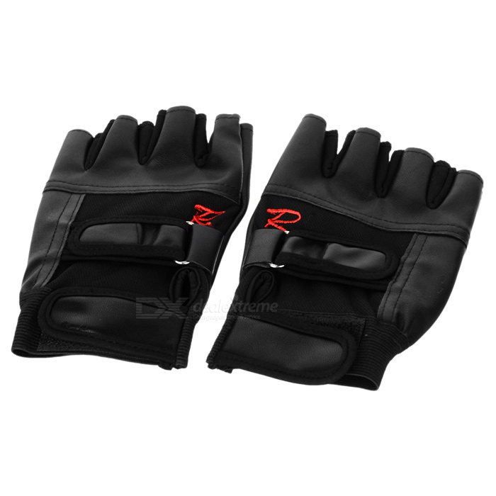 Tactical Series Half-Finger Gloves - Black (Pair / Size L)