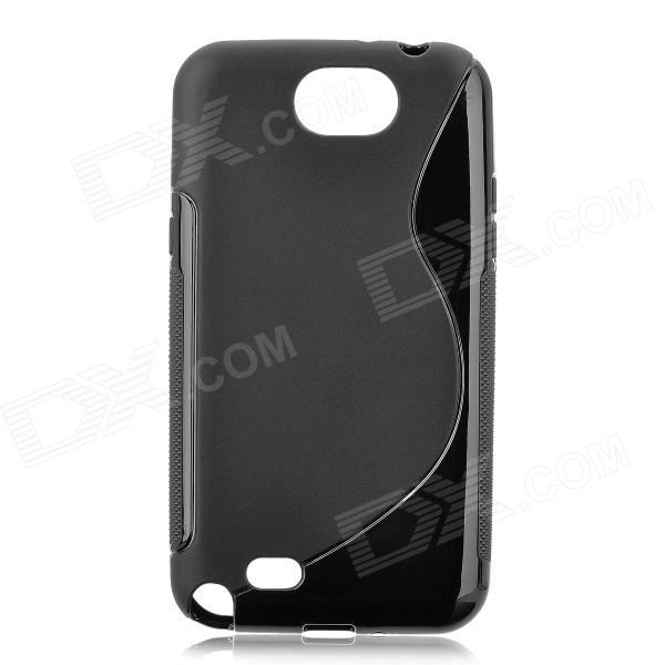 Protective Back Case for Samsung Galaxy Note 2 N7100 - Black metal ring holder combo phone bag luxury shockproof case for samsung galaxy note 8