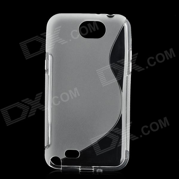 Protective Back Case for Samsung Galaxy Note 2 N7100 - Translucent White protective plastic back case for samsung galaxy note 2 n7100 translucent white