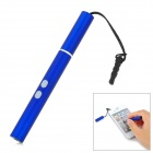 Electronic Cigarette Style Stylus Pen w/ Red Laser + White LED Light + Audio Plug - Blue (3 x LR621)