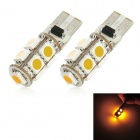 T10 1.62W 117lm 585nm 9-SMD 5050 LED Yellow Light Car Clearance Lamp (12V / 2 PCS)