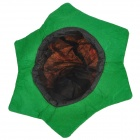 Triangular Eye Pumpkin Pattern Flannel + Non-Woven Cap - Orange + Green