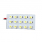 1.6W 105lm 8000K 15-SMD 1210 LED White Light Panel with 3 Connectors (12V)