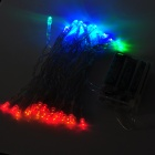 3W 40-LED 4-Color Decoration String Light for Wedding / Christmas / Fairy Party - Transparent