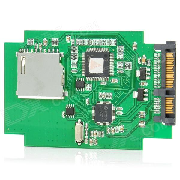 цены  Hi-Speed Dual Chip SD to SATA HDD Adapter Converter - Green