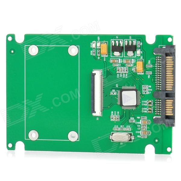 ZIF CE 1.8 IDE / CE / ZIF to SATA Serial-ATA Adapter - Green ce zif to 2 5 ide ce hard disk drive adapter card