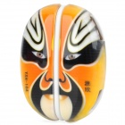 YUANXIN YXH-104 Peking Opera Mask Pattern 4-Port USB 2.0 Hub w/ USB Cable - Orange + Black