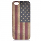 Protective Vintage United States Flag Back Cover Case for Iphone 5 - Grey + Blue + Dark Red