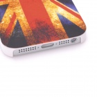 Protective Vintage UK National Flag Back Cover Case for Iphone 5 - Red + Blue + Yellow