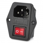 RLEIL SS-8B-3 Water Resistant Power Switch for DIY Project - Black + Red