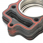 Motorcycle Spare Parts Cylinder Upper Gasket Pad for Honda CG125 / CG150 - Red + Black(10 PCS)