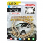 4.8W 6000K 144lm 48 LED de luz blanca de coches Flexible Decoración de Gaza (DC 12V / 40cm)