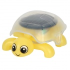 Mini Tortoise Style Solar Powered DIY Intelligence Toy - Yellow + Black