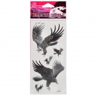 Fashion Eagle Pattern Tattoo Paper Stickers - Black (10 PCS)