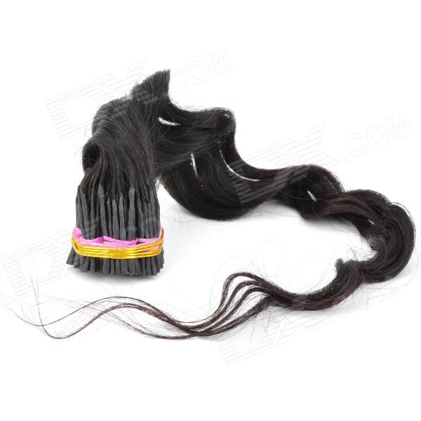 Real Human Wavy Fusion Hair Extensions - Black (60cm / 200 Bundles)