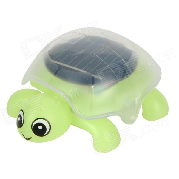 Mini Tortoise Style Solar Powered DIY Intelligence Toy - Green + Black