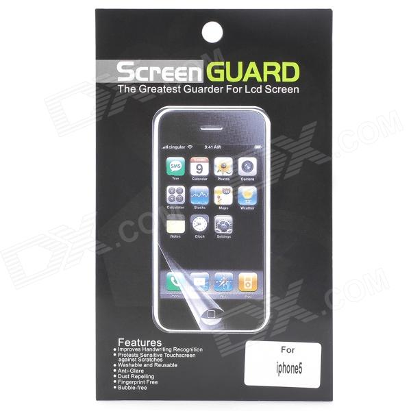 Protective Glossy Screen Protector Guard + Sticker Set for Iphone 5 protective glossy lcd screen protectors set for iphone 5 transparent 10pcs