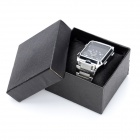 WEIDE WH839 Sports Waterproof Dual Time Display Wrist Watch - Silver + Black (1 x SR626)