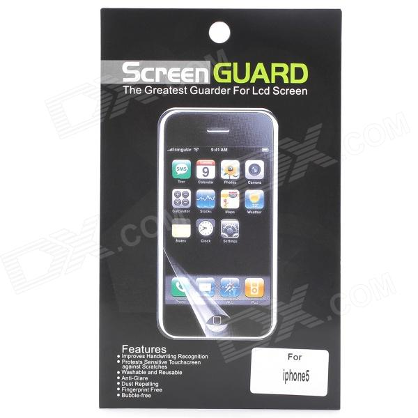 Protective Glossy Screen Protector Guard + Back Sticker for Iphone 5 protective matte frosted screen protector film guard for nokia lumia 900 transparent