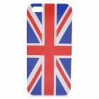 Protective Hard Plastic Back Cover Case for Iphone 5 - Blue + Red + White