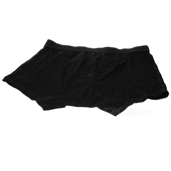 Men's Soft Anti-Radiation Modal Fabric Underwear Pants - Black (Size L)