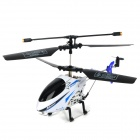 2018A Mini Rechargeable 2.5-CH IR Remote Controlled R/C Helicopter - White + Black + Blue