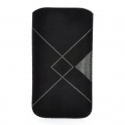 Simple Protective PU Leather Pouch Case for Iphone 5 - Black