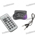 All-in-One Bluetooth + FM + MP3 Player with Steering Wheel Mount Remote Controller (SD/USB/3.5mm)