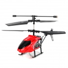 Mini Rechargeable 2.5-CH IR Remote Controlled R/C Helicopter w/ Replacement Head Case - Red + Black
